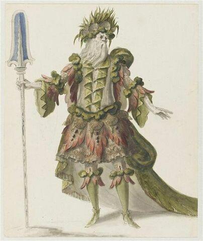 Costume pour le fleuve Sangar dans l'opéra Atys