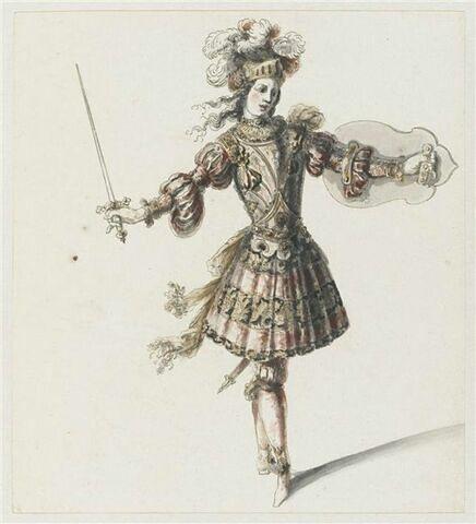 Combattant du premier acte de l'opéra Amadis