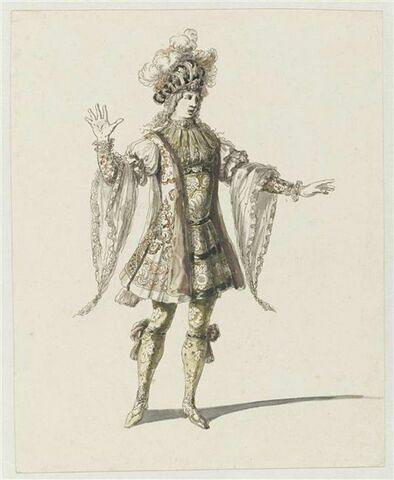 Costume de Florestan ou de héros pour l'opéra Amadis