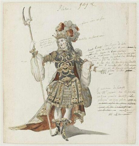 Costume de Pluton pour l'opéra Proserpine