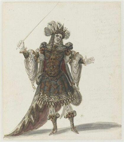 Costume d'Amisodar pour l'opéra Bellérophon