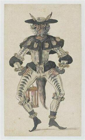 Danseur de morisque costumé en renard pèlerin