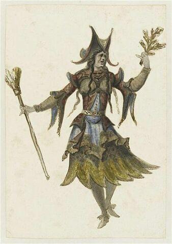 Costume de sorcière pour l'opéra Bellérophon