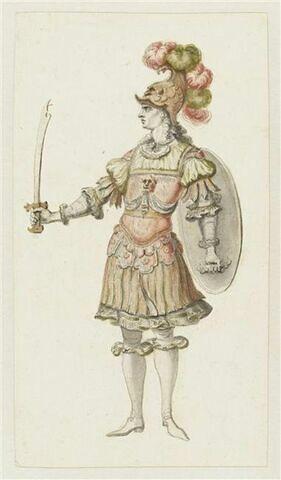 Costume de combattant pour le divertissement de l'acte II d'Alceste