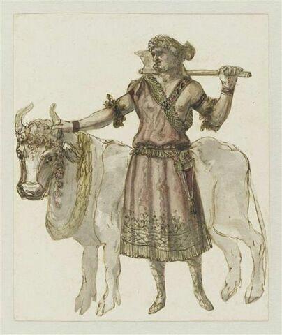 Costume de sacrificateur pour l'acte III de l'opéra Bellérophon