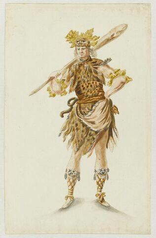 Homme sauvage pour le Ballet des Noces de Pélée et Thétis