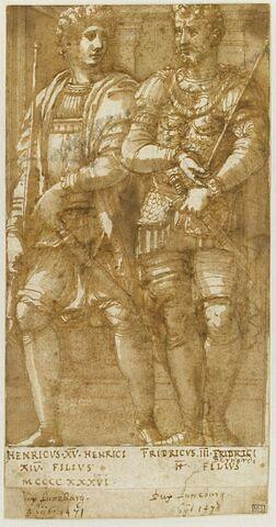 Deux princes de la maison d'Este, Errico IV et Federico III