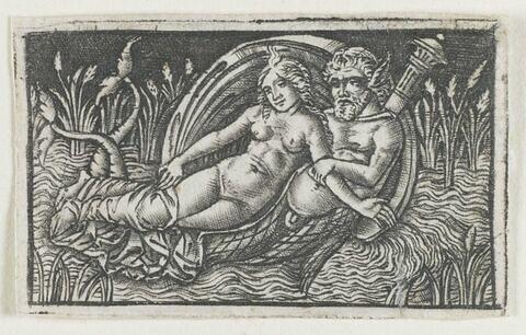 Triton caressant une nymphe