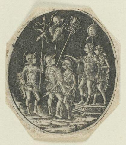Général romain haranguant ses soldats