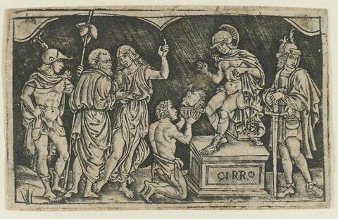 Artaxerxès recevant la tête de Cyrus