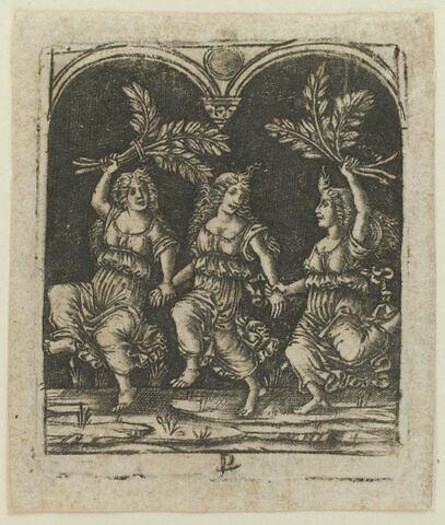 Trois femmes dansant