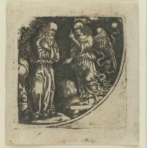 Abraham recevant d'un ange l'ordre d'immoler Isaac