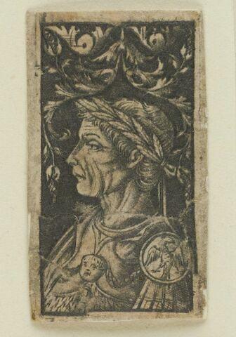 Empereur romain en riche armure