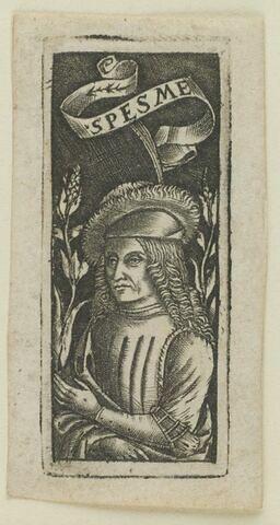 Homme au bonnet ducal en fourrure