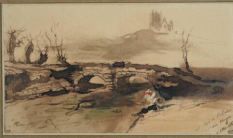 Le pont et le château de Salm