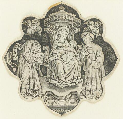 La Vierge avec l'Enfant Jésus assise entre Saint Alban et Saint Stéphane