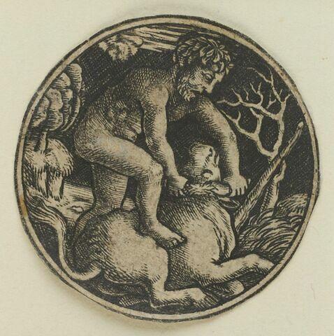 Hercule domptant le taureau