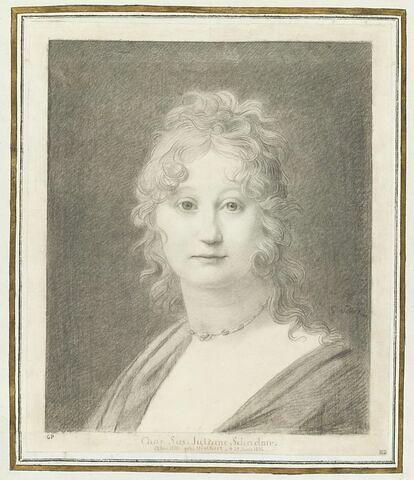 Portrait de Charlotte Susanna Juliane Schadow, née Hielkert (1770-1846)
