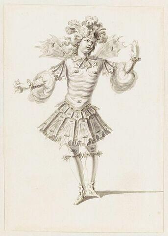 """Costume d'un Vent froid de la suite de Borée pour l'opéra """"Le triomphe de l'amour"""","""