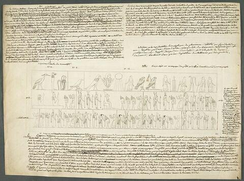 Relevé d'un papyrus égyptien