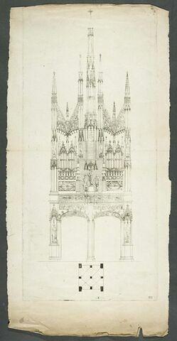Façade d'église gothique