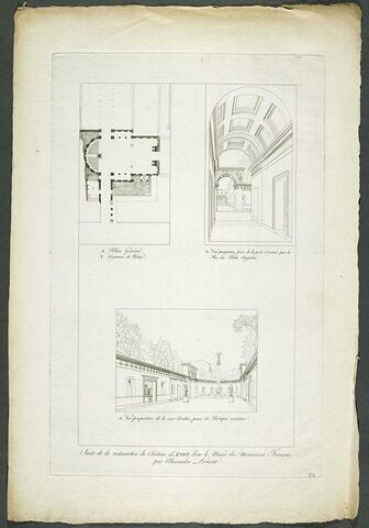 Plan général et deux vues du château d'Anet
