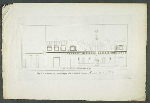 Plan d'une partie de la restauration du château d'Anet