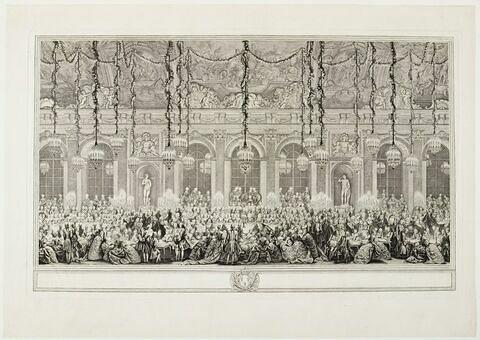 Le jeu du roi dans la grande galerie de Versailles, à l'occasion du mariage du Dauphin en 1745