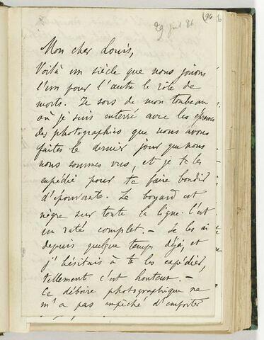 29 juillet 1886, Fère-en-Tardenois, à Louis de Launay