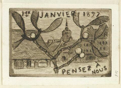 1er janvier 1897, sans lieu, à Louis de Launay