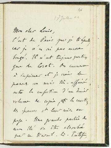 17 juillet 1904, sans lieu, à Louis de Launay