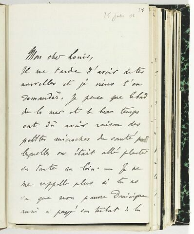 25 juillet 1906, sans lieu, à Louis de Launay