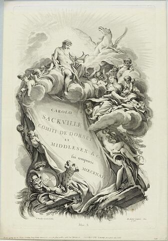 Frontispice pour le 'Tombeau de Charles Sackville, comte de Dorset'