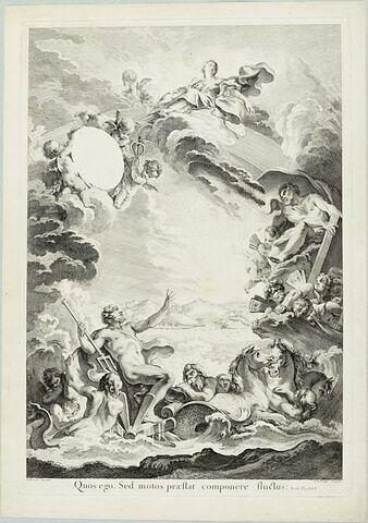 Neptune apaisant la tempête