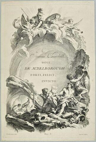 """Frontispice pour le """"Tombeau de John Churchill, duc de Marlborough"""""""