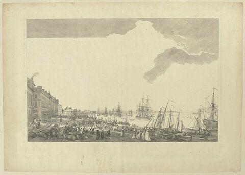 Vue de la ville et du port de Bordeaux, prise du côté des Salinières