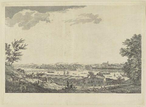 Vue de la ville et du port de Bayonne prise du glacis de la citadelle