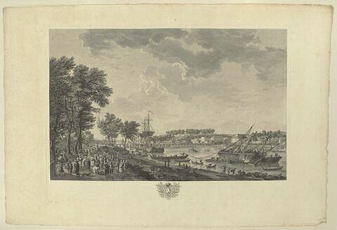 Vue de la ville et du port de Bayonne, prise de l'allée de Boufflers