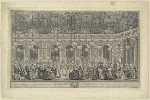 Décoration du bal masqué donné par le roi en 1745