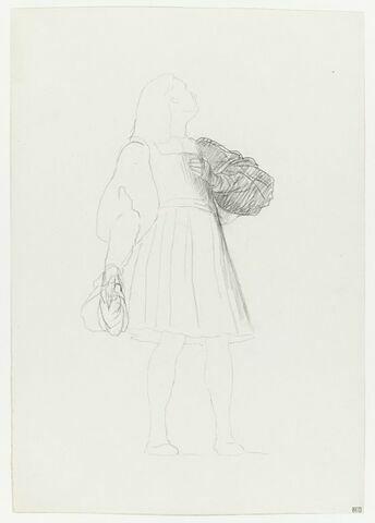 Personnage masculin en costume du XVIIe siècle, étude de la manche gauche. Etude pour le Grand Dauphin, dans la Réception de Condé à Versailles