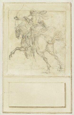 Projet de cartes à jouer : Cavalier de dos tirant à l'arc