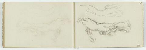 Dépose du croquis du folio 25 recto