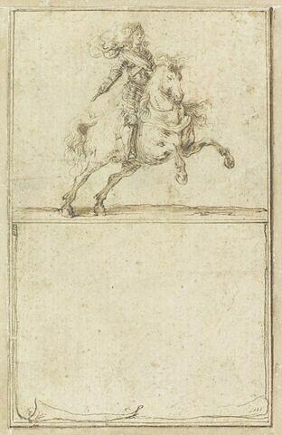 Projet de cartes à jouer : Cavalier en armure sur un cheval au galop