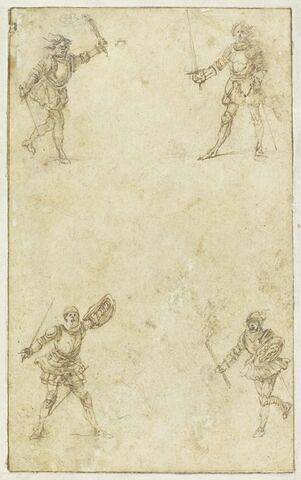 Projet de cartes à jouer : Quatre figures combattant