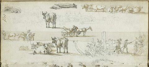 Etudes de scènes paysannes