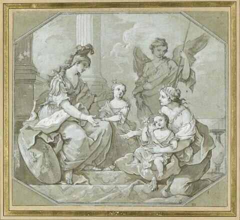 La Jeunesse et la Vertu présentent deux princesses à la France
