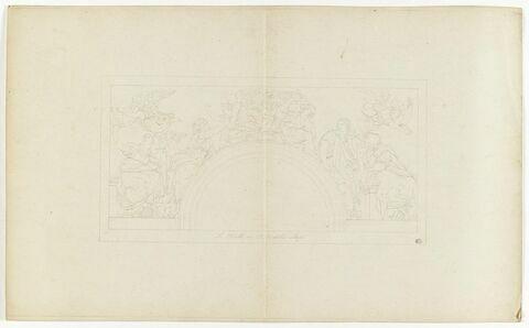 Copie d'après la composition des Sibylles en l'église Santa Maria della Pace à Rome, par Raphaël
