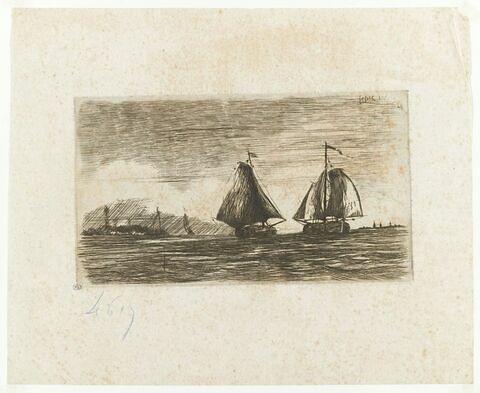 Gros voilier en pleine mer
