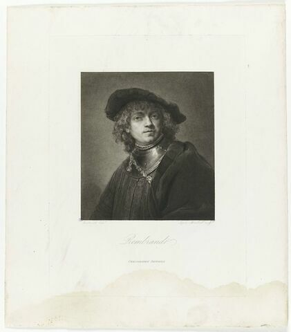 Autoportrait de Rembrandt, copie