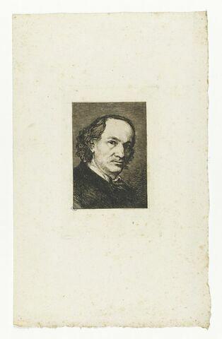Portrait de Baudelaire, en buste, de trois quarts à droite